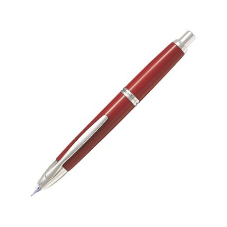 - STYLO-PLUME - Capless rouge attributs rhodiés - M // PILOT